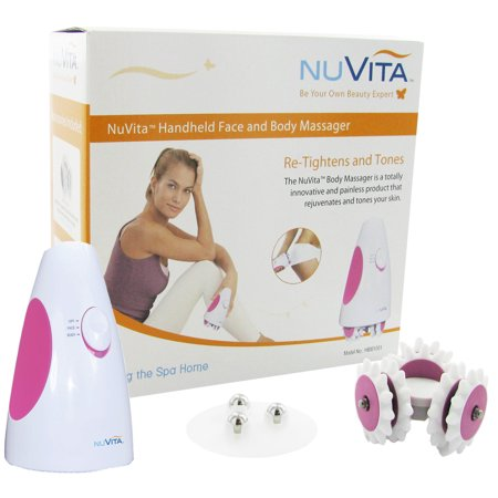 Roscoe Medical Hbm1001 Nuvita Handheld Face And Body Massager System  White