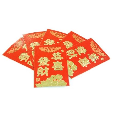 Pack Of 6 Chinese Red Money Envelope SM