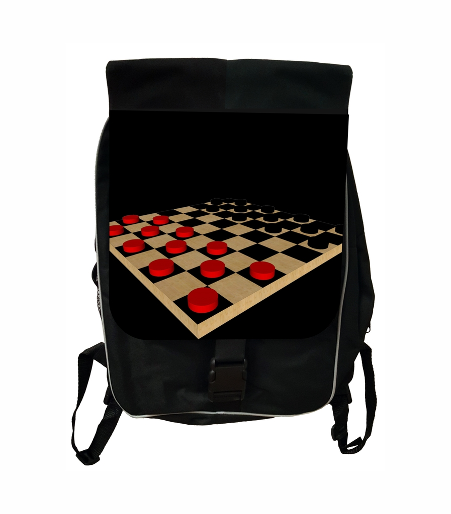 Checkerboard Black School Backpack & Pencil Bag Set by Accessory Avenue