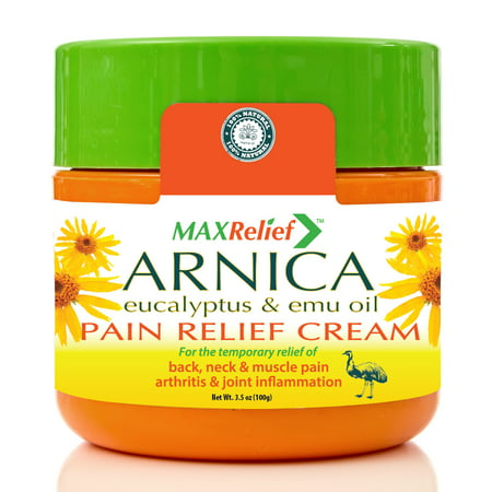 MaxRelief Arnica Pain Relief Cream - Australia's #1 - For Sufferers of Back, Neck, Knee, Joint & Muscle Pain. Reduces Arthritis & Joint Inflammation, Sciatica & Fibromyalgia pain treatment. 3.5