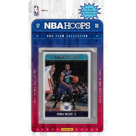 Charlotte Hornets 2017 2018 Hoops Basketball Factory Sealed Team Set with Kemba Walker, Frank Kaminsky, Malik Monk Rookie plus ()