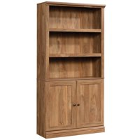 Sauder Misc Storage 3-Shelf 2-Door Tall Wood Bookcase in Sindoori Mango