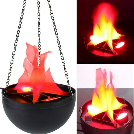 Electric LED Flamsee 3D Fake Fire Lamp Eeffect Torch Light for Halloween Xmas Party Decor Holiday Supplies ,20cm Hanging - Halloween Torches