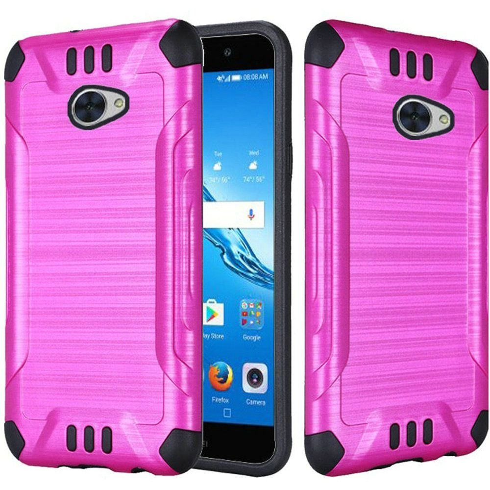 Huawei Ascend XT Case, Dual Layer Shockproof Tough Brushed Hybrid Armor Drop Protection Case Cover For Huawei Ascend XT- Black