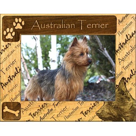 Giftworks Plus DBA0013 Australian Terrier, Alder Wood Frame, 3.5 x 5 In
