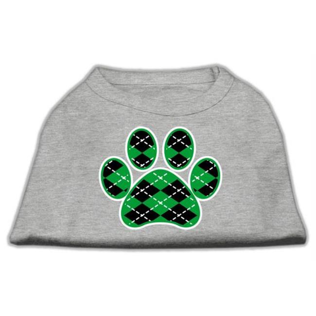 Argyle Paw Green Screen Print Shirt Grey Med - 12