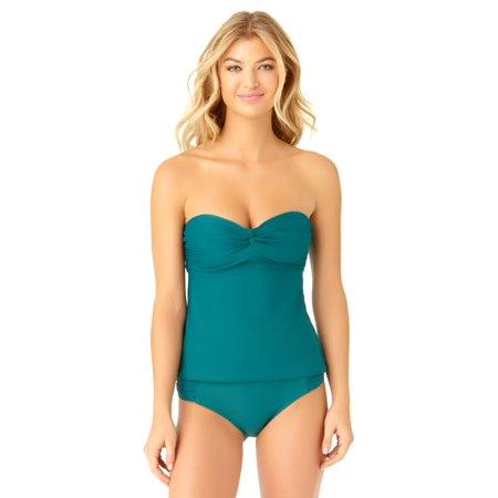 Twist Bandeau - catalina women's teal twist bandeau tankini swim top