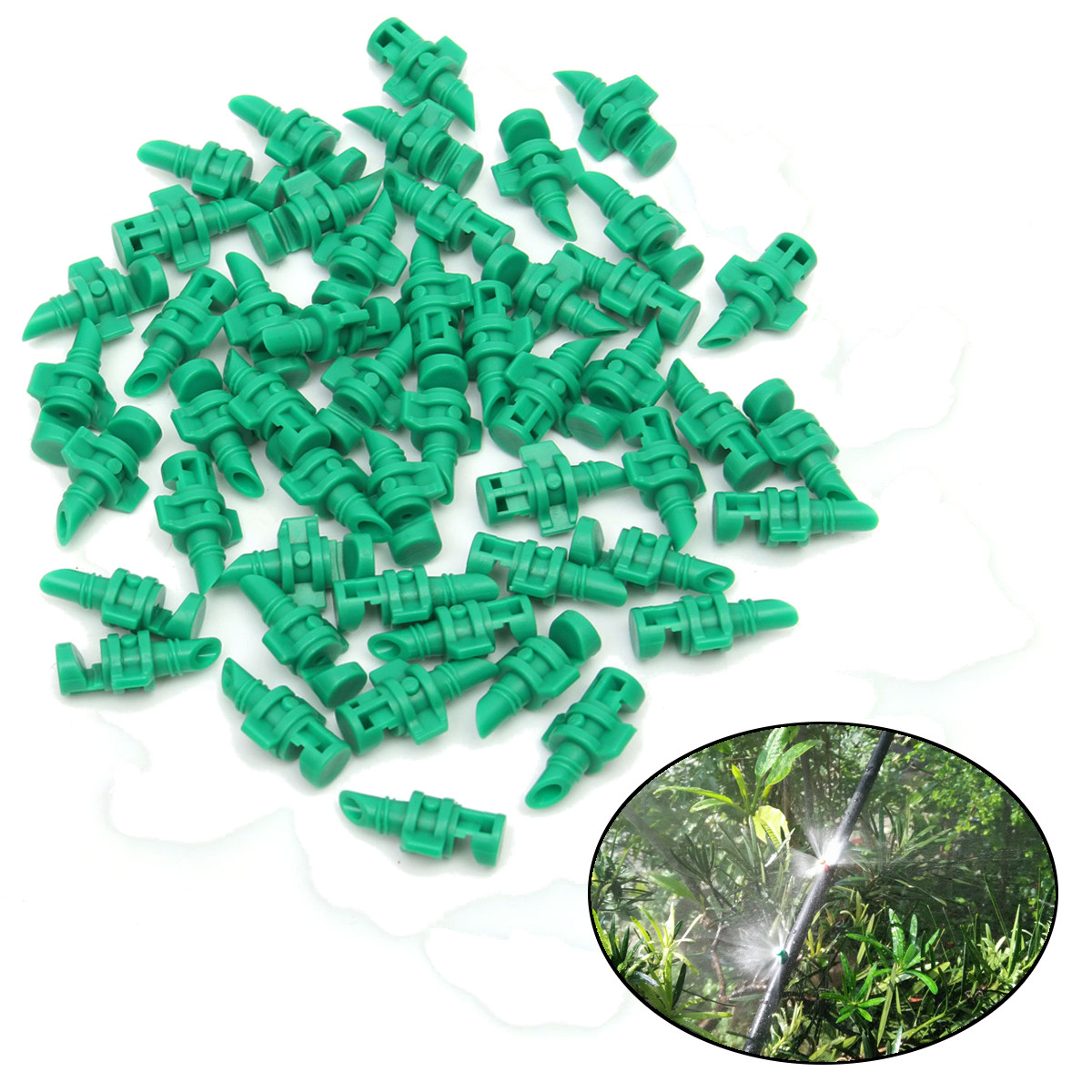 50Pcs Micro Garden Lawn Water Spray Misting Nozzle Sprinkler Irrigation System by