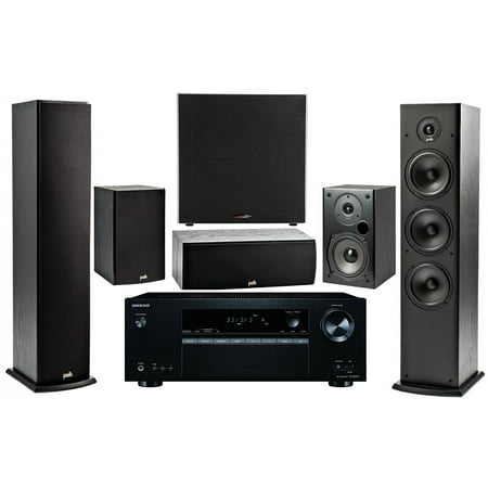 Onkyo 5.2 -Channel Wireless Bluetooth 4K 3D A/V Surround Sound Multimedia Home Theater