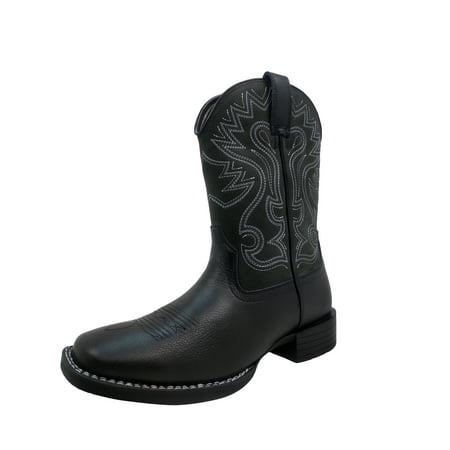 Herman Survivors Men's Houston Cowboy Boot Black Lizard Cowboy Boots