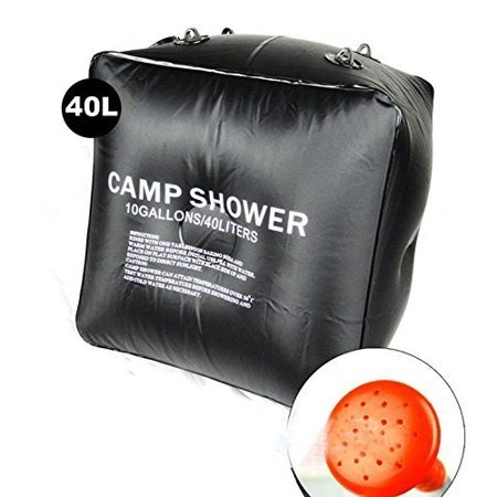 (Wealers 10 Gallon/40 Litter Portable Outdoor Shower, Lightweight & Portable, Includes Removable Hose W/on-off Switchable Showerhead)