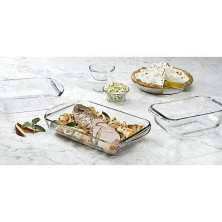 "Anchor 10pc Essentials Bake Set 2 Quart Baking Dish, 8"" Length X 8"" Width Baking Dish, 9"" Diameter... by"
