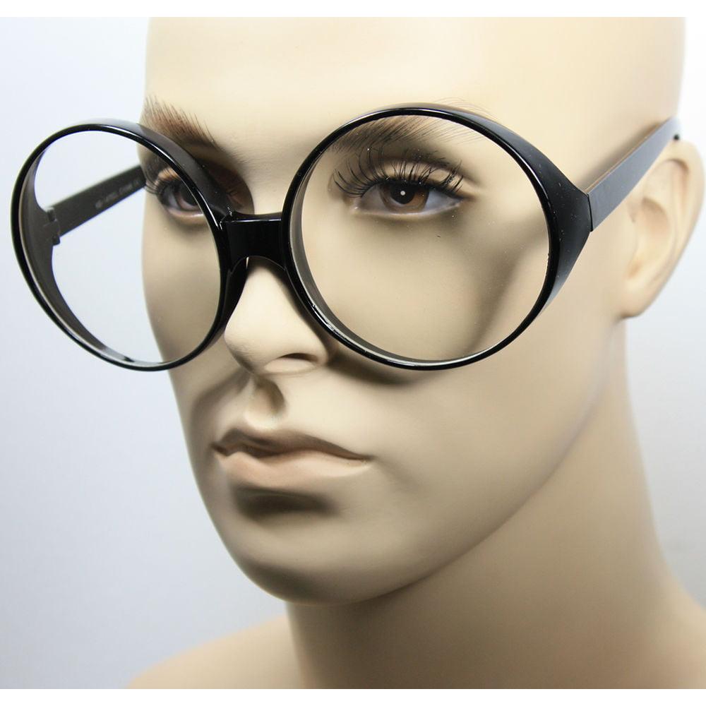 OVERSIZED VINTAGE RETRO Style Clear Lens EYE GLASSES Tortoise Gold Fashion Frame