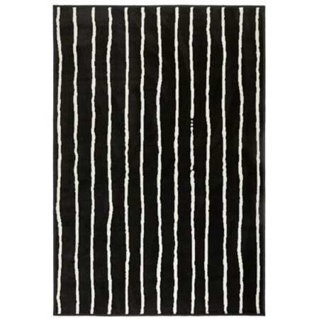 Ikea Rug, low pile, black/white 4 ' 4