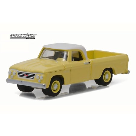 1962 Dodge D-100 Pickup, Sunset Yellow - Greenlight 29850A - 1/64 Scale Diecast Model Toy Car