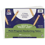 Handwriting Paper - 1/2 Rule, 1/4 Dotted, 1/4 Skip - 10 1/2 x 8 inch - 500 Sheets, Bright tablet paper with horizontal rules on both sides By School Specialty