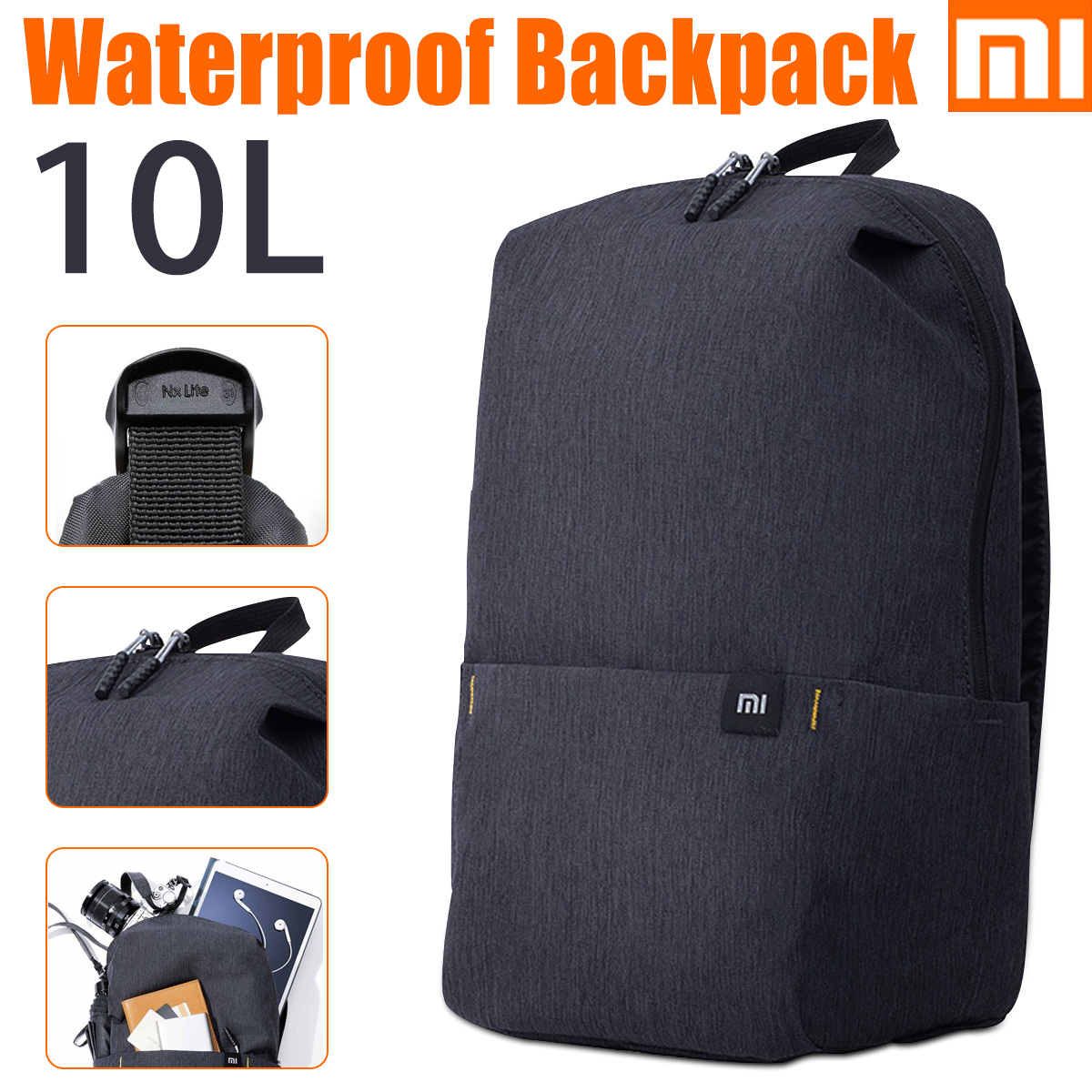 Xiaomi Men Women 10L Backpack Bag Water Repellent Chest Pack for Travel Outdoor
