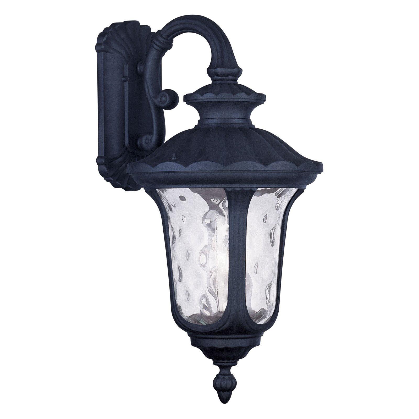 Livex Oxford 7857-04 3-Light Outdoor Wall Lantern in Black