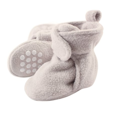 Luvable Friends Baby Cozy Fleece Booties with Non Skid Bottom, Light Gray, 18-24 Months - image 1 of 1