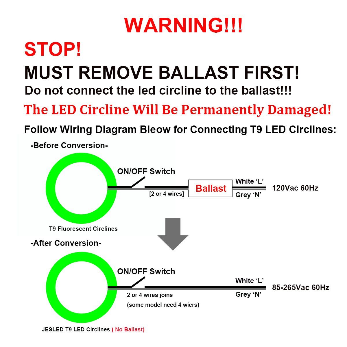 Circline Wiring Diagram Data Advance Ballast T12ho 9 Inch 12w Ls T9 Led Light Bulb Daylight 6000k Replacement Simple Diagrams