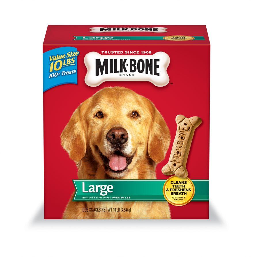 Milk-Bone Original Dog Biscuits, Large-sized Dog Treats, 10-Pound