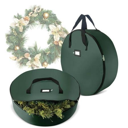 Halloween Rag Wreath Instructions (2 Pack Christmas Wreath Storage Bag For 36