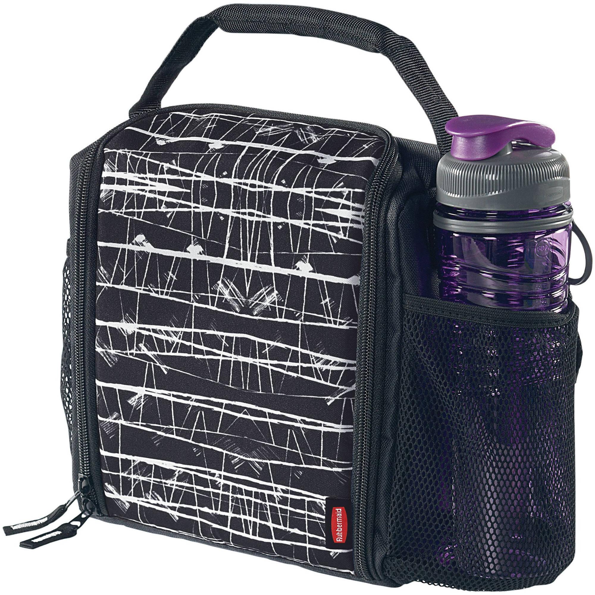 Rubbermaid LunchBlox Medium Durable Lunch Bag, Black Etch