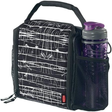 Rubbermaid LunchBlox Medium Insulated Lunch Bag, Black Etch