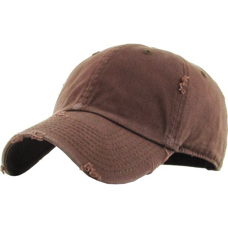 672678ea Washed Solid Vintage Distressed Cotton Dad Hat Adjustable Baseball Cap Polo  Style