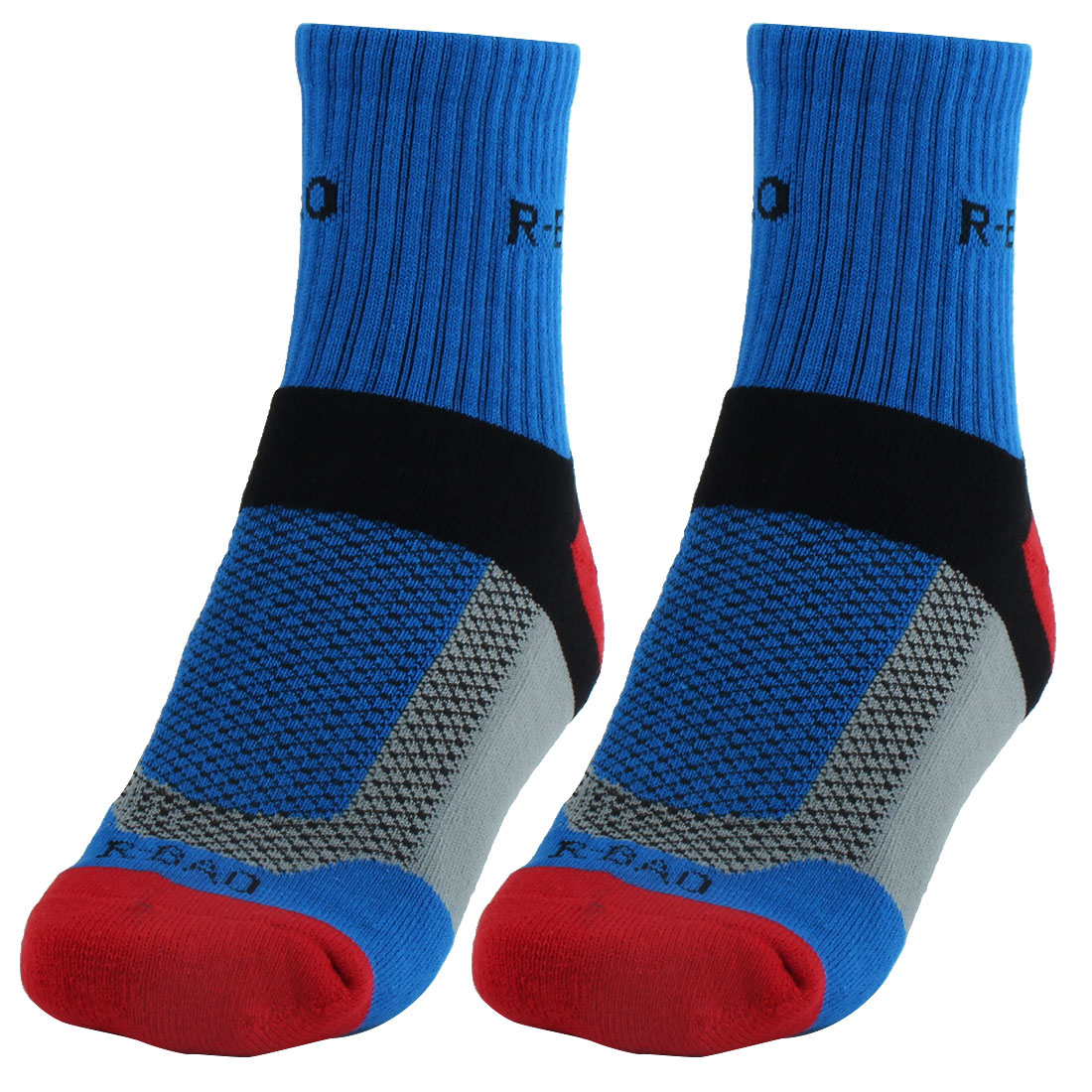 R-BAO Authorized Adult Mountain Bike Workout Training Cycling Socks Blue Pair