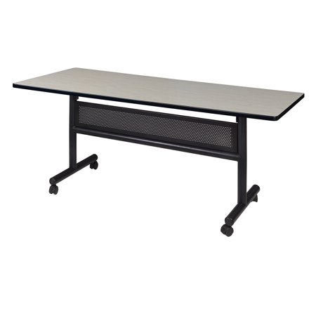 "Kobe 60"" x 30"" Flip Top Mobile Training Table with Modesty- Maple"