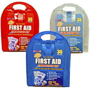 Set of 3 Rapid Care First Aid Emergency Kits - Each Kit 35 Pieces - 105 Total Pieces