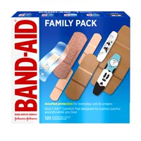 Band-Aid Brand Adhesive Bandage Family Variety Pack, Assorted Sizes, 120 ct