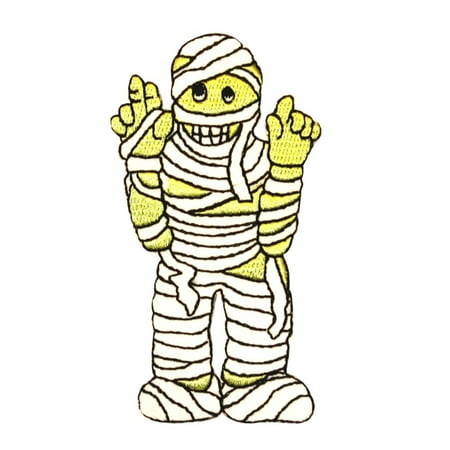 ID 0890 Mummy Costume Patch Halloween Kid Wraps Embroidered Iron On Applique - Iron On Halloween Appliques