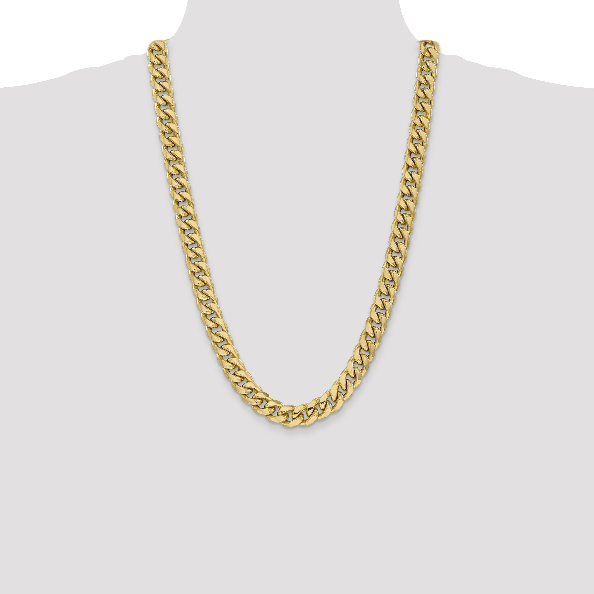 14k Yellow Gold 11mm Miami Cuban Chain Necklace 26 Inch Pendant Charm Curb Fine Jewelry Gifts For Women For Her - image 1 of 5