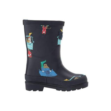Joules Kids Printed Welly Rain Boot (ToddlerLittle KidBig Kid) Navy Animals