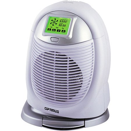 Optimus Electric Digital Oscillating Fan Heater w/Touch Screen Control, H-1410