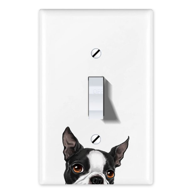 Wirester 1 Gang Toggle Light Switch Wall Plate Switch Plate Cover Animal Boston Terrier Dog Walmart Com Walmart Com