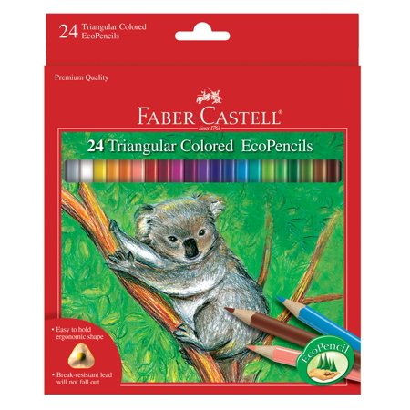 Faber-Castell 24 ct Triangular Colored Eco Pencils