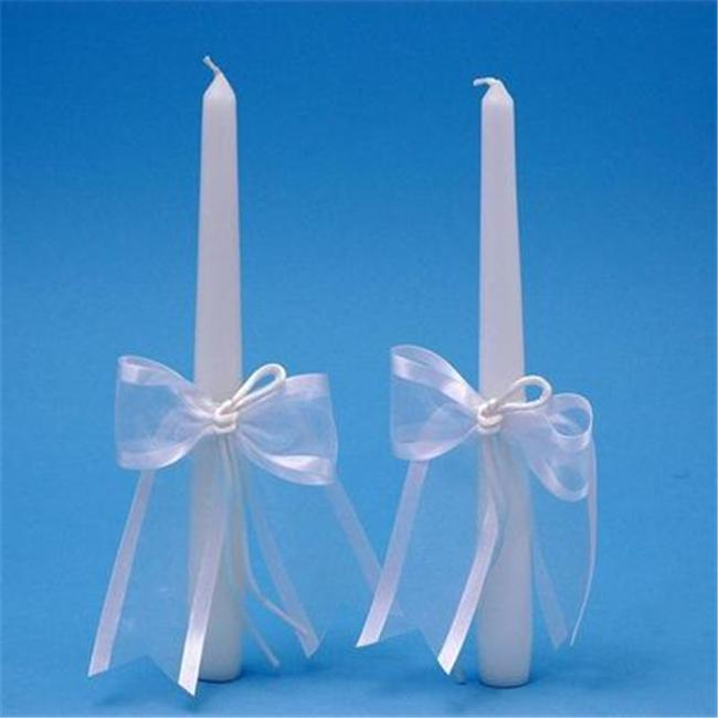 Beverly Clark A01115TC/WHT Simplicity Taper Candles - White