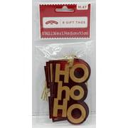 Holiday Time 8 Ct Craft Hoho Tags