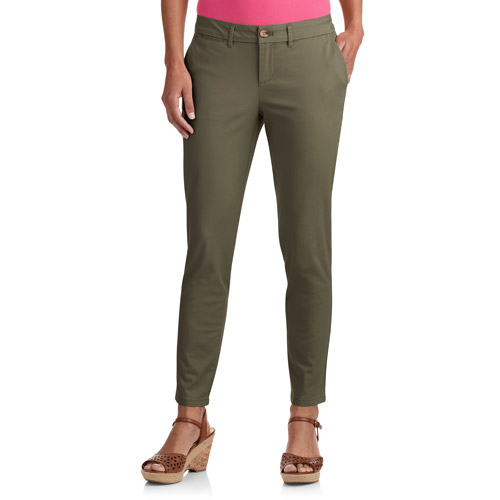 Faded Glory Women's Ankle Length Skinny Chino Pants - Walmart.com