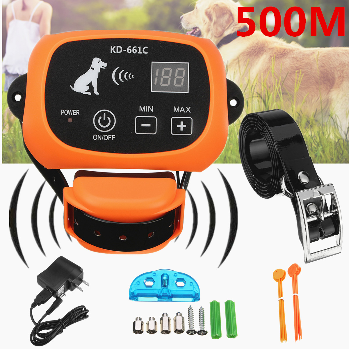 500m1641ft waterproof electric wireless dog fence containment wire free fencing remote
