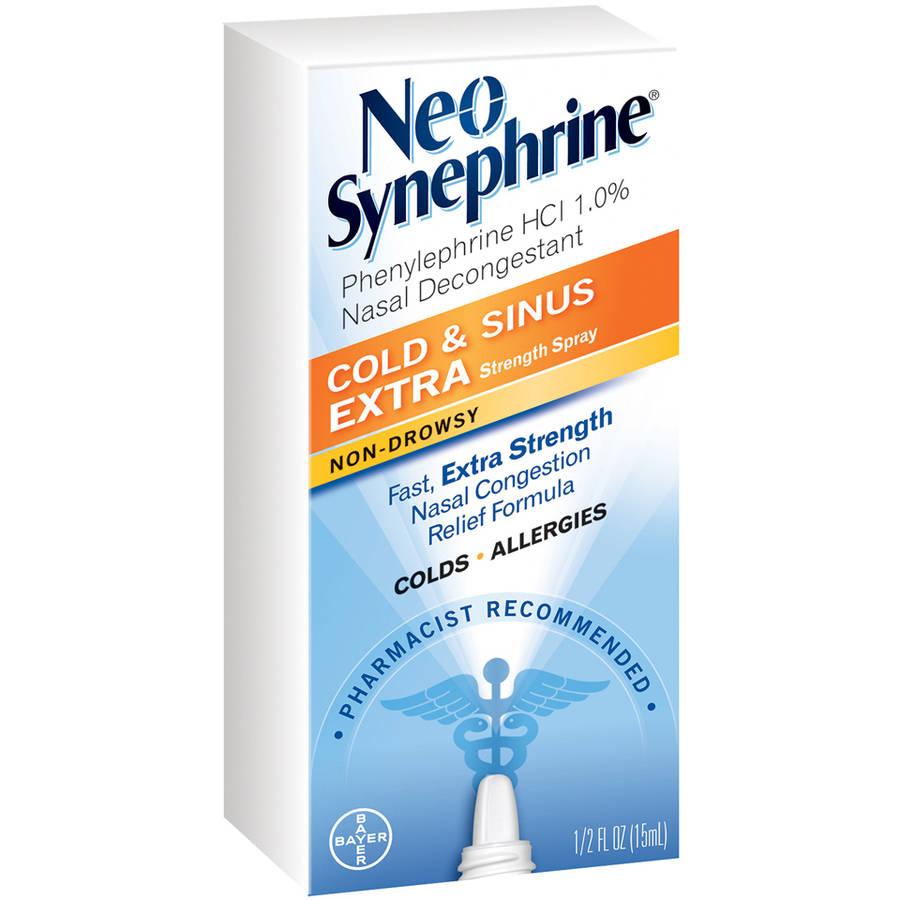 Neo-Synephrine Nasal Decongestant, Extra Strength Spray, .5 fl oz