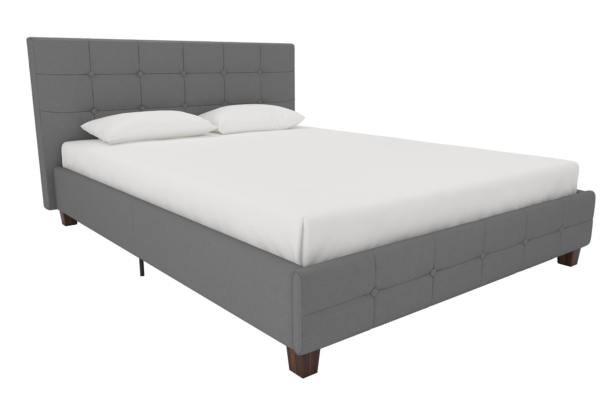 DHP Rose Linen Tufted Upholstered Platform Bed, Button Tufted Headboard and Footboard with Wooden Slats, Multiple... by Dorel Home Products