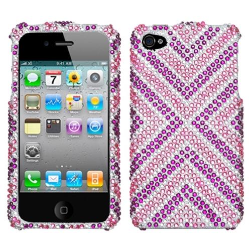 Insten Cautions Diamante Case For iPhone 4 4S