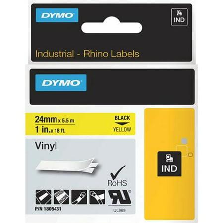 Dymo Rhino 1in Yellow Vinyl 24Mm 1805431 by