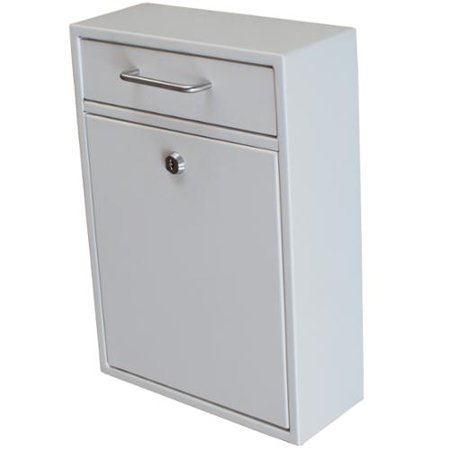 Epoch Design Llc Mail Boss Off White Metal Locking Security Drop Box