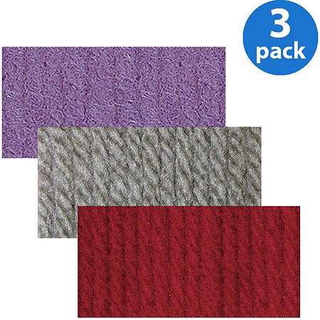 Solid Yarn Grass - Your Choice 3-Pack Bernat Super Value Solid Yarn Bundle