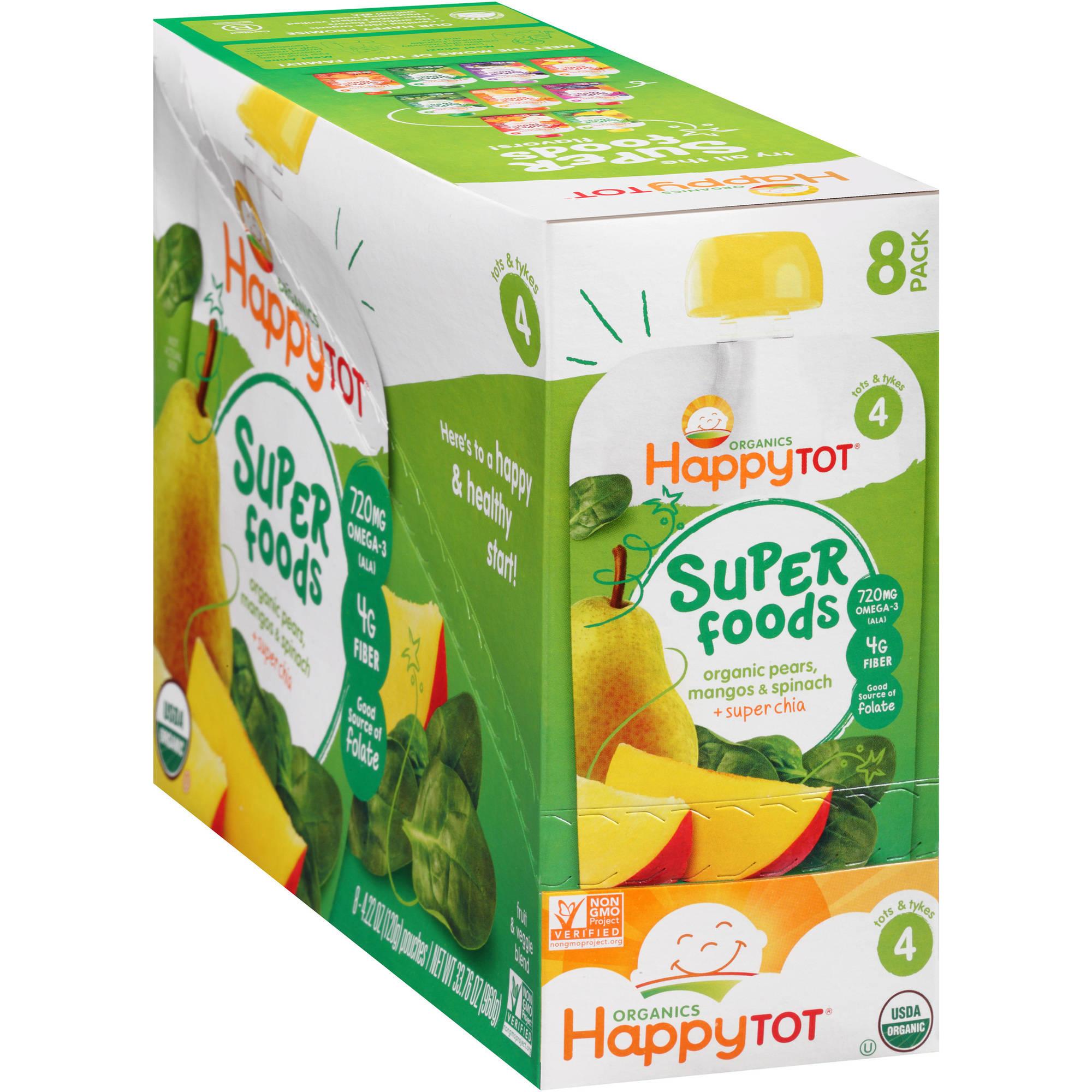 Nurture Happy Tot  Fruit + Veggie Pouch, 8 ea